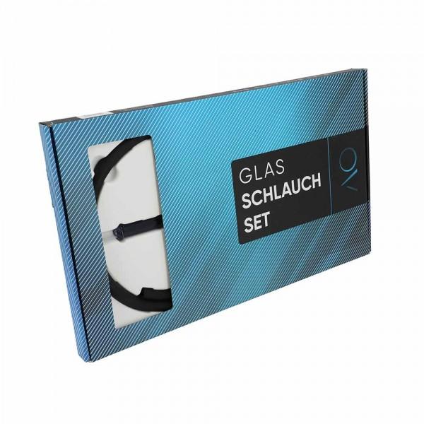 Glas Schlauch Set