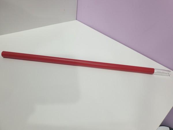 Glasmundstück mit rotem Silikon überzogen