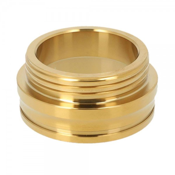 Tesseract Gewinde Edelstahl Gold