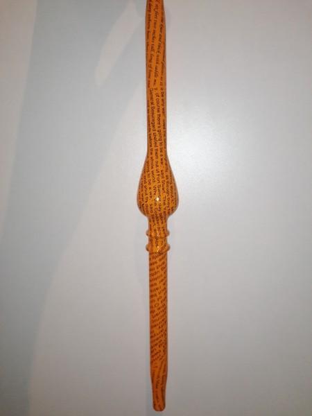 Glasmundstück Orange/Schrift