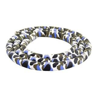 Camouflage - Silikonschlauch Blau & Grau 150 cm