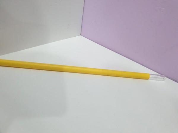 Glasmundstück mit gelben SIlikon überzogen