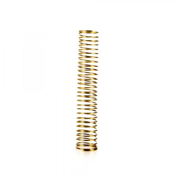 Schlauchfeder Gold 10 cm